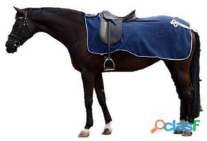 QHP Manta ejercicio lana con adorno azul / plata L