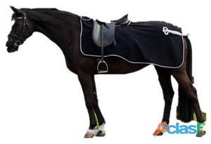 QHP Manta ejercicio lana con adorno negro / plata XL