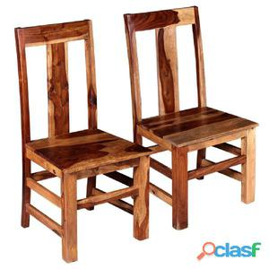 Sillas de comedor madera maciza sheesham 2 unidades