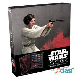 Star wars destiny. carpeta para dados princesa leia