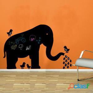Superstudio Pizarra de vinilo elephant & birds-negro 50 gr