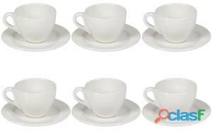 Wellindal Juego 6 tazas de té con plato 4.5 kg