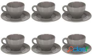 Wellindal Juego 6 tazas de té con plato 4 kg