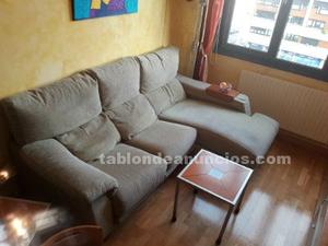 Vendo sofa tres plazas con chaiselonge