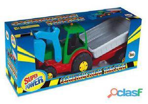 AVC Tractor Con Pala Y Remolque En Caja