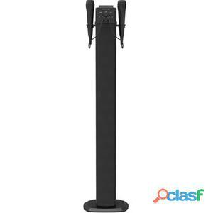 Brigmton Torre Sonido Karaoke 2 Micros Negro