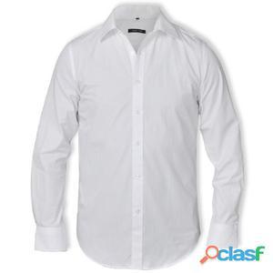 Camisa elegante de hombre, Talla XL, Blanco