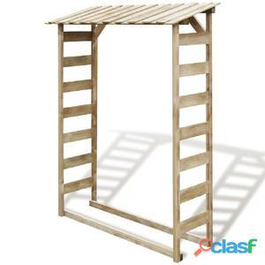 Caseta para leña 150x44x176 cm madera de pino impregnada