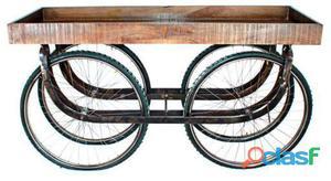 Decoración Vintage Carro Velocar Con Rueda De Bicicletas 25