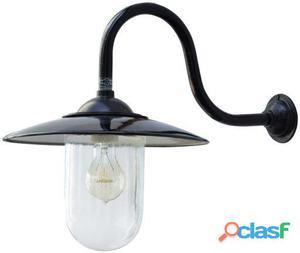 Decoración Vintage Lámpara Carter De Pared Color Negro 2.3