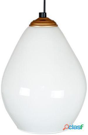Decoración Vintage Lámpara Drops Blanco Opalina