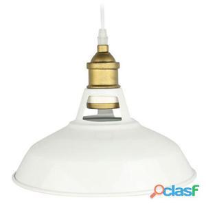 Decoración Vintage Lámpara Nepal Metal Acabado Blanco 2 kg