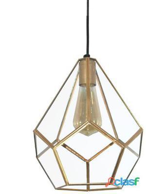 Decoración Vintage Lámpara Techo Colgante Pentagon Oro 2