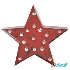 Decoración Vintage Luminosa Led Estrella Óxido 1 kg