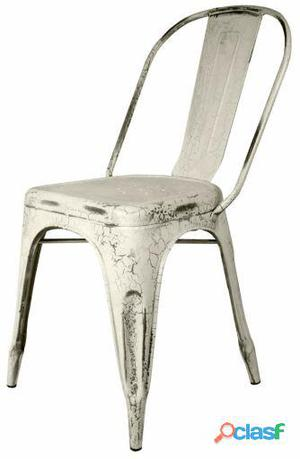 Decoración Vintage Silla Favorit Blanco Craquelado 6 kg
