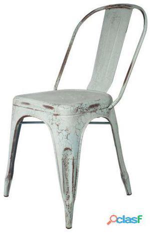 Decoración Vintage Silla Favorit Celeste Antique Craquelado