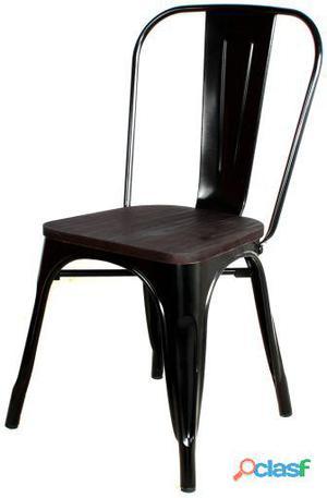Decoración Vintage Silla Lumber Negro Lacado Hierro 7 kg