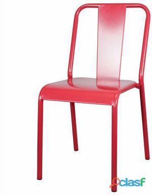Decoración Vintage Silla Zenith Metal Rojo-Granate 8 kg