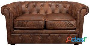 Decoración Vintage Sofá Denver 2 Pl Tapizado Fusión 35 kg