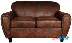 Decoración Vintage sofá Bataclan 2 Plazas Tapizado Fusión