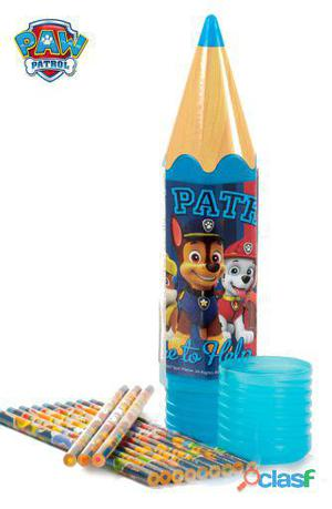 Import Estuche Paw Patrol con 12 Lápices Colores