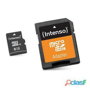 Intenso 3413460 Micro Sd clase 10 8Gb c,adapt