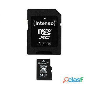 Intenso 3413490 Micro Sd clase 10 64Gb c,adapt