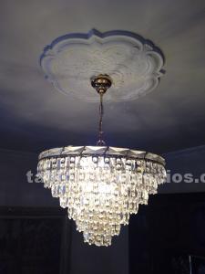 Magnífica lámpara de cristal para salón