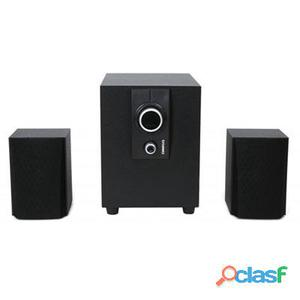 Omega Altavoces 2. 1 Madera 25W Rms Negro