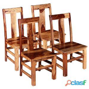 Sillas de comedor madera maciza sheesham 4 unidades