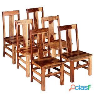 Sillas de comedor madera maciza sheesham 6 unidades