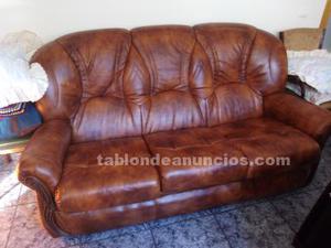 Vendo sofá de cuero marrón