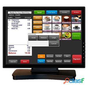 """VivaPos Monitor Táctil 15"""" T1505A Alta+Dvi+Usb Neg"""