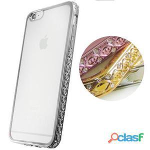 X-One Funda Tpu Brillantes iPhone 6 Plus Plata