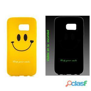 X-One Funda Tpu Fosforescente Samsung S7 Happy Emo