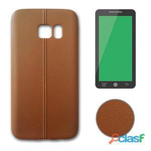 X-One Funda Tpu Leather Samsung S7 Edge Marrón