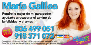 María Galilea Tarot Visa 20 Minutos 16 €