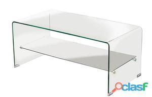 Consola canada tr cristal curvado 100x33 cms posot class - Mesa auxiliar cristal curvado ...