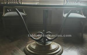Oferta mesa de comedor de cristal y sillas