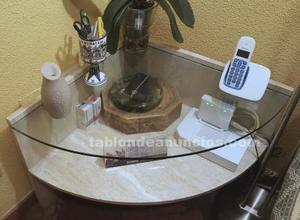 Oferta mesa de esquina mármol y cristal