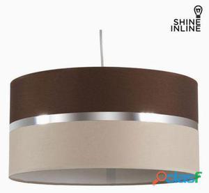 Bigbuy Lámpara de techo marrón y beige by Shine Inline 4