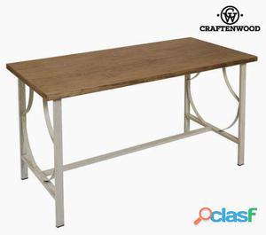 Bigbuy Mesa de escritorio madera/forja beige Serious Line