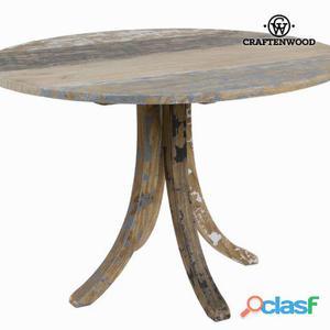 Bigbuy Mesa redonda madera decapada Colección Poetic