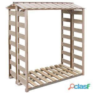 Caseta para leña 150x100x176 cm madera de pino impregnada