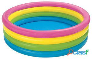 Colorbaby Piscina hinchable 4 aros sunset