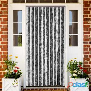 Cortina de puerta anti insectos 100 x 220 cm Gris y Blanca
