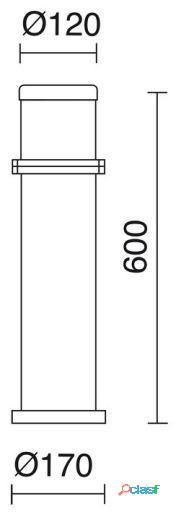 Dopo Baliza Omo Ip55 60W E27 Verde 4.55 kg