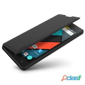 Energy Phone Cover Max 4G Funda Libro Negra