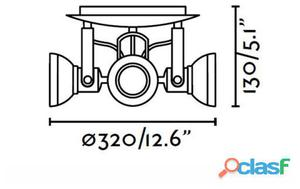 Faro Bcn Plafón Ring-4 Gris Oscuro 4Xgu10 8W 1.6 kg