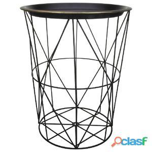 Gusta Mesa auxiliar de metal 30x38 cm negra 04310920